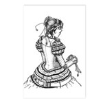 Victorian Droidette postcards by Inky