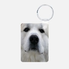 Great Pyrenees Aluminum Photo Keychain
