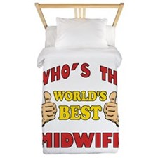 Thumbs Up Worlds Best Midwife Twin Duvet