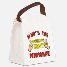 Thumbs Up Worlds Best Midwife Canvas Lunch Bag