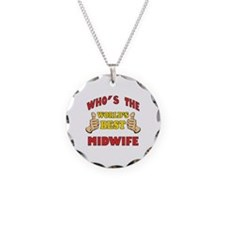 Thumbs Up Worlds Best Midwife Necklace Circle Char