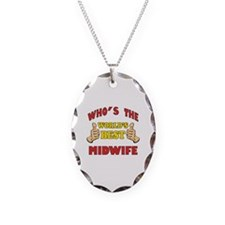 Thumbs Up Worlds Best Midwife Necklace Oval Charm
