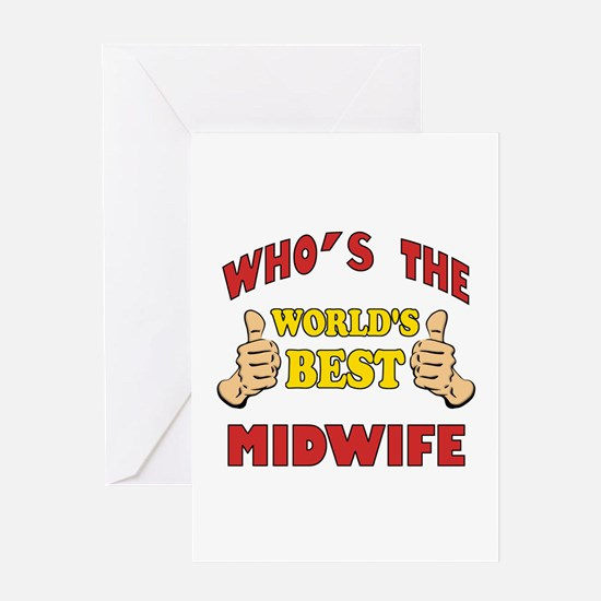 Thumbs Up Worlds Best Midwife Greeting Card