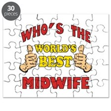 Thumbs Up Worlds Best Midwife Puzzle