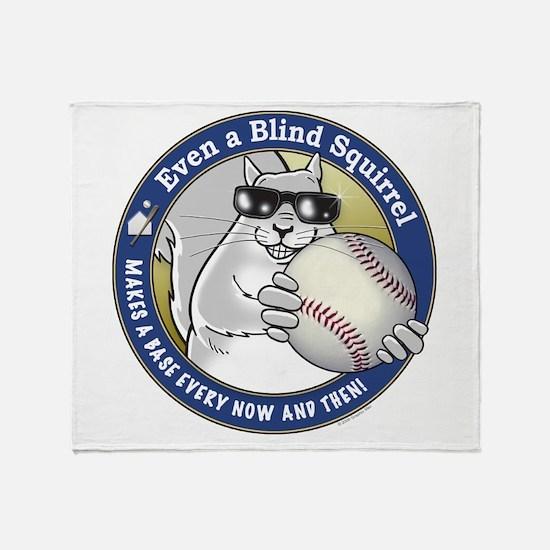 Baseball Blind Squirrel Throw Blanket