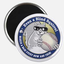 Baseball Blind Squirrel Magnet