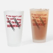 sidewalk Drinking Glass