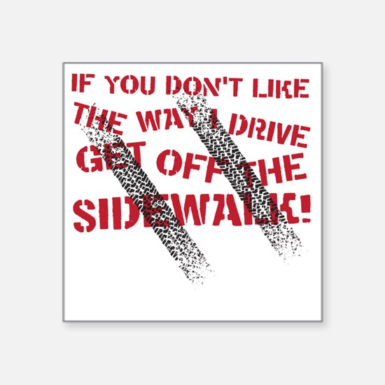 "sidewalk Square Sticker 3"" x 3"""