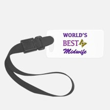 Worlds Best Midwife (Butterfly) Luggage Tag