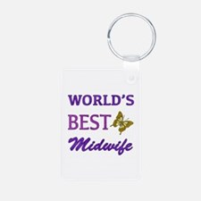 Worlds Best Midwife (Butterfly) Aluminum Photo Key