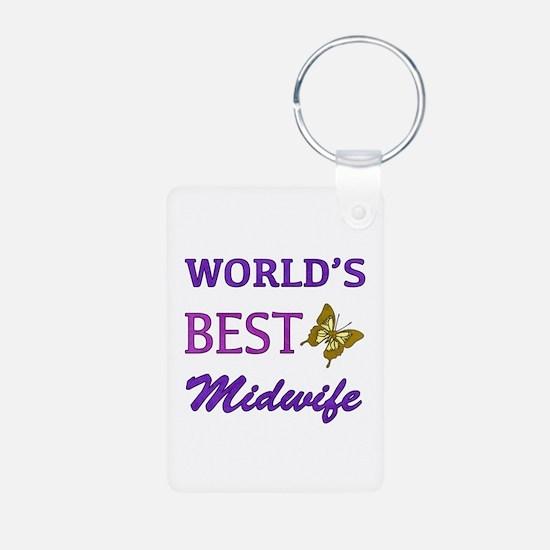Worlds Best Midwife (Butterfly) Aluminum Photo Key