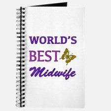 Worlds Best Midwife (Butterfly) Journal