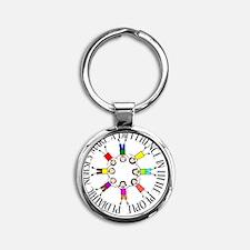 pediatric nurses circle WITH KIDS Round Keychain