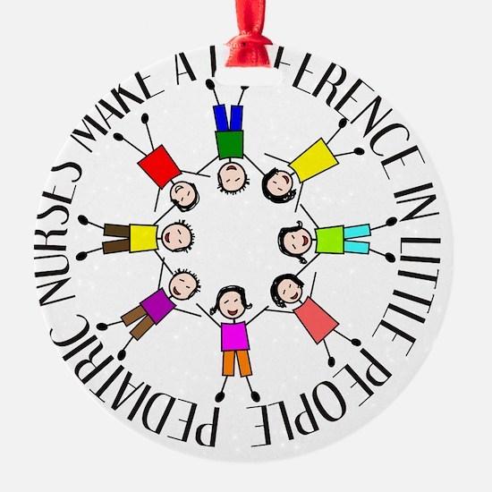 pediatric nurses circle WITH KIDS Ornament