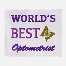 Worlds Best Optometrist (Butterfly) Throw Blanket