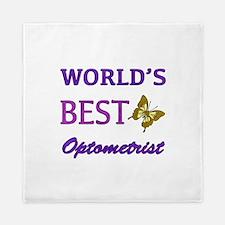 Worlds Best Optometrist (Butterfly) Queen Duvet