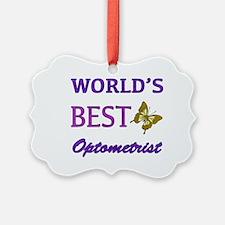 Worlds Best Optometrist (Butterfly) Ornament