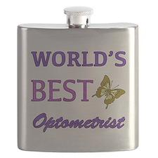 Worlds Best Optometrist (Butterfly) Flask