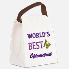 Worlds Best Optometrist (Butterfly) Canvas Lunch B