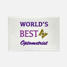 Worlds Best Optometrist (Butterfly) Rectangle Magn
