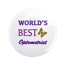 "Worlds Best Optometrist (Butterfly) 3.5"" Button"