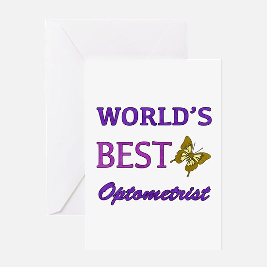 Worlds Best Optometrist (Butterfly) Greeting Card