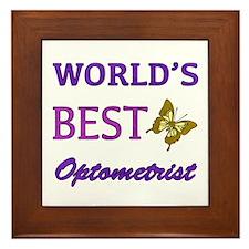Worlds Best Optometrist (Butterfly) Framed Tile