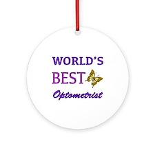Worlds Best Optometrist (Butterfly) Ornament (Roun