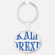 Kali Orexi Greek Apron Oval Keychain