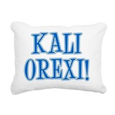 Kali Orexi Greek Apron Rectangular Canvas Pillow