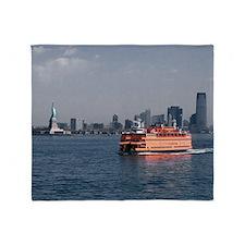 (14) Staten Island Ferry Throw Blanket
