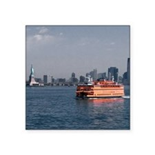 "(14) Staten Island Ferry Square Sticker 3"" x 3"""
