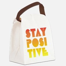 Stay Positive Canvas Lunch Bag