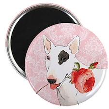 Bull Terrier Rose Magnet