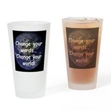 Change Words Drinking Glass