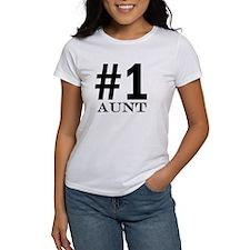 Number 1 Aunt T-Shirt