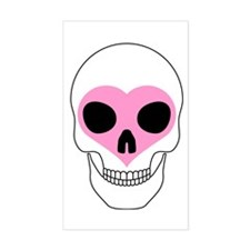 Skull Heart Rectangle Decal