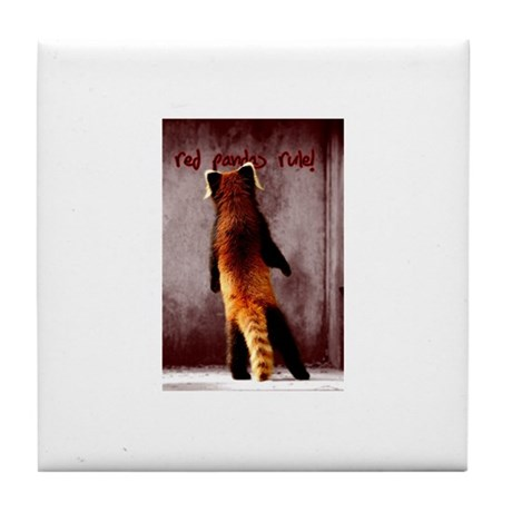 Red Panda Products Tile Coaster