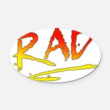 Rad_gradient2 Oval Car Magnet