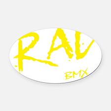 Rad BMX_dark Oval Car Magnet