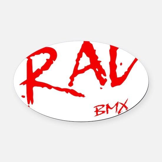 Rad BMX_light Oval Car Magnet