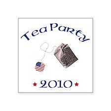 """tea party 2010 Square Sticker 3"""" x 3"""""""