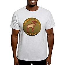 NeonMooseParkCityDarkGoldCircle T-Shirt