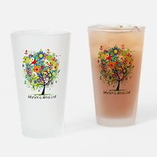 Tree 2 Drinking Glass