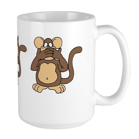 Three Wise Monkeys Large Mug