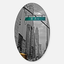 New York, 5th ave Sticker (Oval)