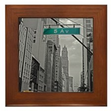 New York, 5th ave Framed Tile