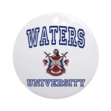 WATERS University Ornament (Round)