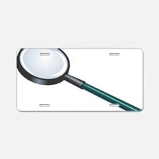 Magnifying glass Aluminum License Plate