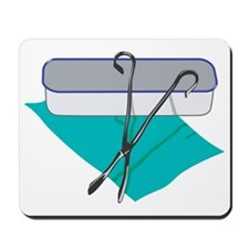 Tray and Scissors Mousepad